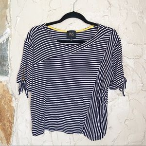W5 Black And White Striped Top